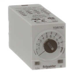 TDR782XDXA-230A - Time delay relay, Legacy, 4PDT, 5A, 230 VAC, 100 ms to 100 hours, 7 time scales, on-delay function, socket compatible