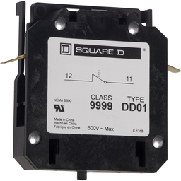 9999DD01 - Contactor, Definite Purpose, auxiliary contact, 3A at 120 VAC, 1 NC contact, for 20A to 40A DPA contactors