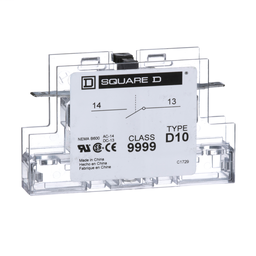 9999D10 - Contactor, Definite Purpose, auxiliary contact, 3A at 120 VAC, 1 NO contact, for 50A to 90A DPA contactors