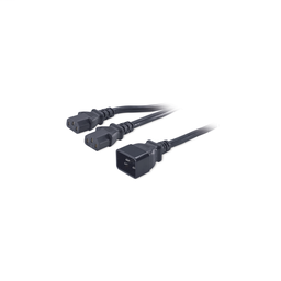 AP9888 - Power Cord Splitter, C20 to (2)C13, 0.5m