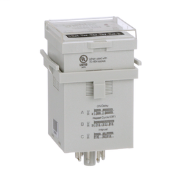 TDRPRO-5102 - Time delay relay, Legacy, DPDT, 12A, 12-240 VAC/DC, 100 ms to 9990 hours, 7 time scales, 3 functions, socket compatible