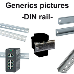 VW3A31852 - Plate for mounting on symmetrical DIN rail