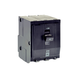 QOXD363 - Mini circuit breaker, QO, 63A, 3 pole, 240/415 VAC, 3 kA, plug in mount