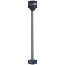 XVUZ400 - Fixing plate with 400 mm aluminium pole for modular tower lights, black, Ø60