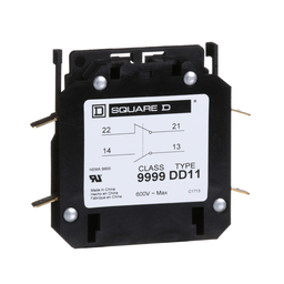 9999DD11 - Contactor, Definite Purpose, auxiliary contact, 3A, 1 NO contact and 1 NC contact, for 20A to 40A DPA contactors