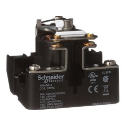199ADX-3 - Power relay, Legacy, SPST-DB, 40A, 24 VAC, open type