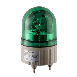 XVR08B03 - Rotating beacon, 84 mm, green, without buzzer, 24 V AC DC