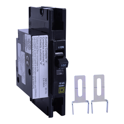 QOU11001200 - QOU Miniature Circuit Breaker, 100A, 1P, 120/240V, 10kA, Aux Switch