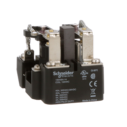 199ABX-14 - Power relay, Legacy, DPDT, 40A, 120 VAC, magnetic blowout, open type