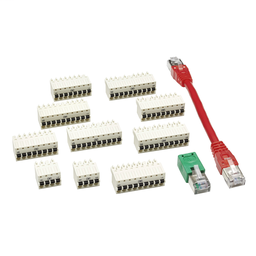 VW3E6004 - Complete connector set for PacDrive LMC Pro controllers and Sercos cable – 0.13m
