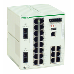 TCSESM243F2CU0 - Ethernet TCP/IP managed switch – ConneXium -22TX/2FX – multimode