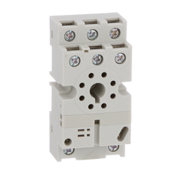 8501NR52B - Plug in relay, Type N, relay socket, 8 tubular pin, double tier, for 8510KP relays and 9050JCK timers, bulk packaged