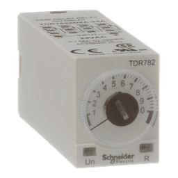 TDR782XDXA-24A - Time delay relay, Legacy, 4PDT, 5A, 24 VAC, 100 ms to 100 hours, 7 time scales, on-delay function, socket compatible