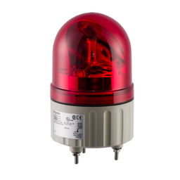 XVR08B04 - Rotating beacon, 84 mm, red, without buzzer, 24 V AC DC