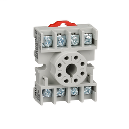 8501NR51B - Plug in relay, Type N, relay socket, 8 tubular pin, single tier, for 8510KP relays and 9050JCK timers, bulk packaged