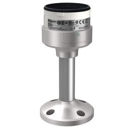 XVUZ02Q - Fixing plate with 100 mm aluminium pole for modular tower lights, silver, Ø60