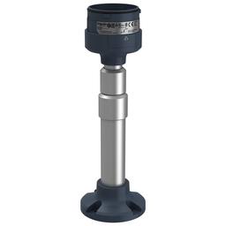 XVUZ05 - Fixing plate with adjustable aluminium pole 210 to 385 mm for modular tower lights, black, Ø60