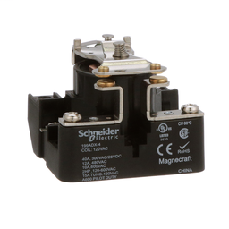 199ADX-4 - Power relay, Legacy, SPST-NO-DM, 40A, 120 VAC, open type,