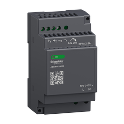 ABLM1A24025 - Regulated Power Supply, 100-240V AC, 24V 2.5 A, single phase, Modular