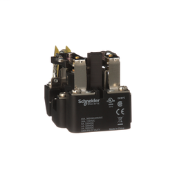 199ABMX-7 - Power relay, Legacy, DPDT, 40A, 12 VAC, magnetic blowout, auxiliary switch, open type