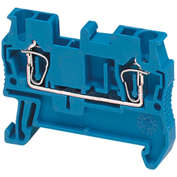 NSYTRR22BL - SPRING TERMINAL, FEED THROUGH, 2 POINTS, 2,5MM², BLUE