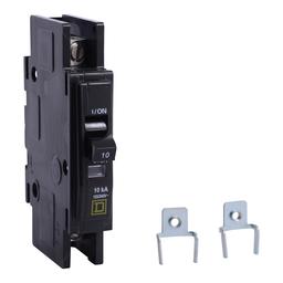 QOU1103100 - QOU Miniature Circuit Breaker, 10A, 1P, 120/240V, 10kA, Mounting Foot