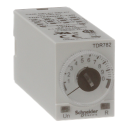 TDR782XDXA-12D - Time delay relay, Legacy, 4PDT, 5A, 12 VDC, 100 ms to 100 hours, 7 time scales, on-delay function, socket compatible