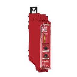 XPSUS32AC - Preventa module Cat.4 features 2*XPSUAF + enabling movement 48-240vac/dc spring