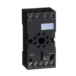 RUZC2M - Zelio, plugin relay socket, mixed contact, 10 A, 250 V, octal connector, for RUMC2 relays