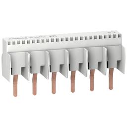 10180 - Multi 9 – comb busbar – 1L – 18 mm pitch – 6 modules – 80A