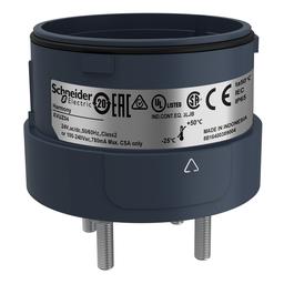 XVUZ04 - Fixing unit for modular tower lights, black, Ø60, 4 pins direct mounting