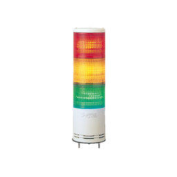 XVC1B3K - Monolithic tower light, red-orange-green, 100mm, base mounting, steady or flashing, without buzzer, IP54, 24 V DC