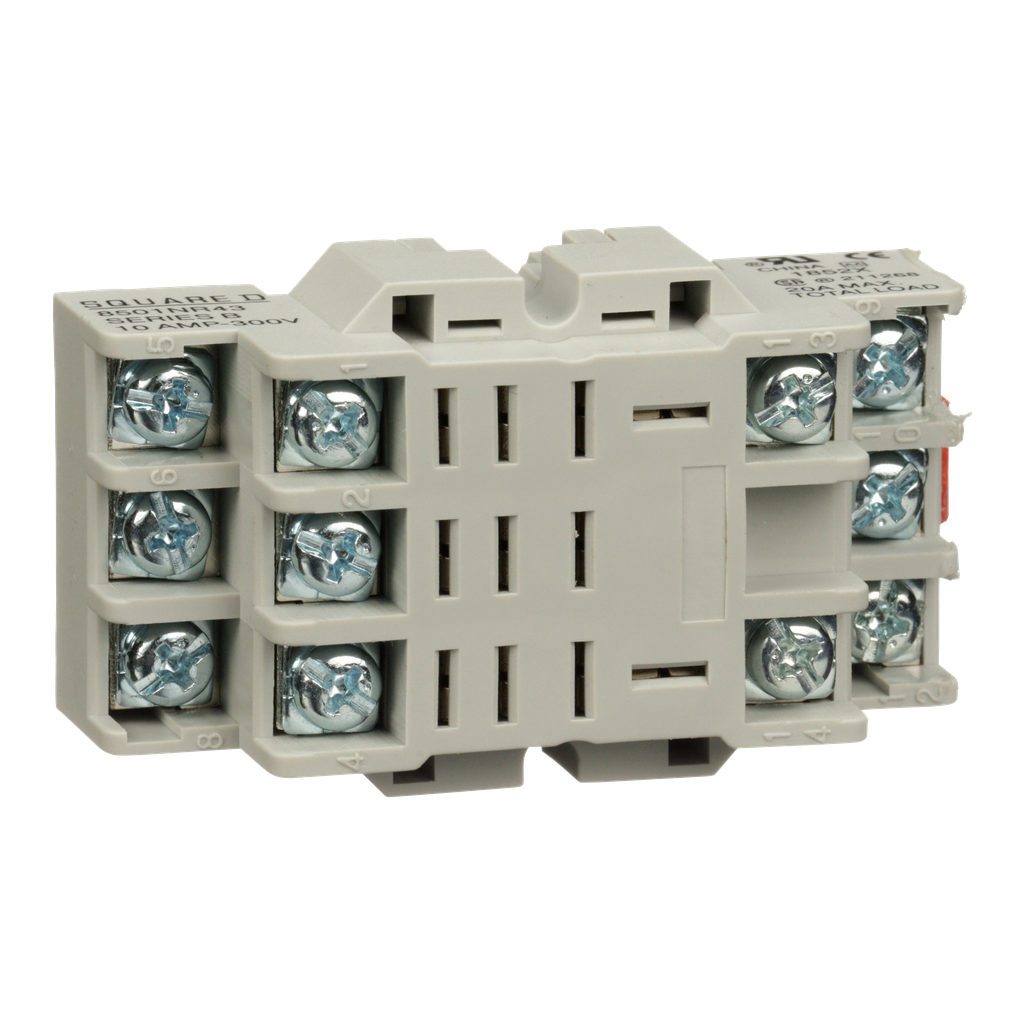 Mayer-Plug in relay, Type N, relay socket, 11 blade, for 8510R relays-1