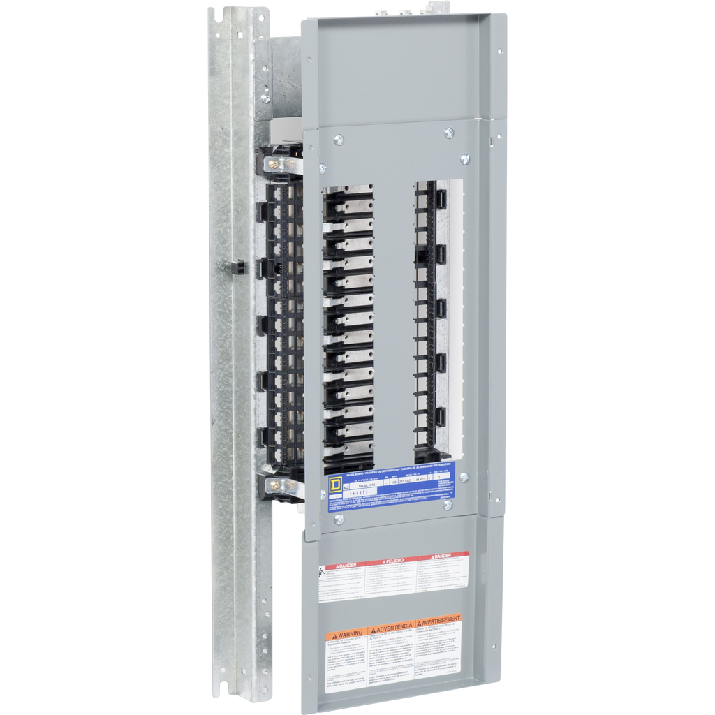 Mayer-Panelboard interior, NQ, main lugs, 225A, Cu bus, 30 pole spaces, 1 phase, 3 wire, 240 VAC, 48 VDC, 14 in-1