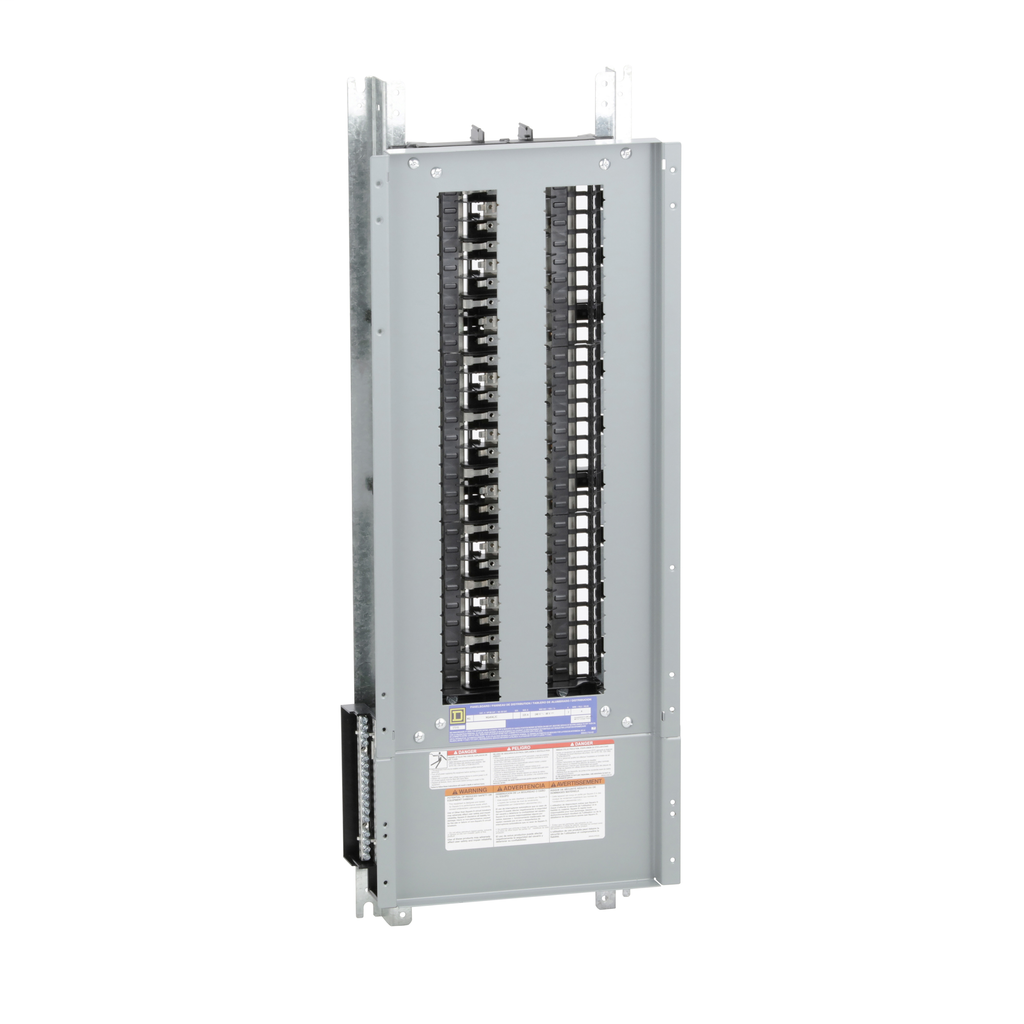 Mayer-Panelboard interior, NQ, main lugs, 225A, Cu bus, 54 pole spaces, 3 phase, 4 wire, 240 VAC, 48 VDC-1
