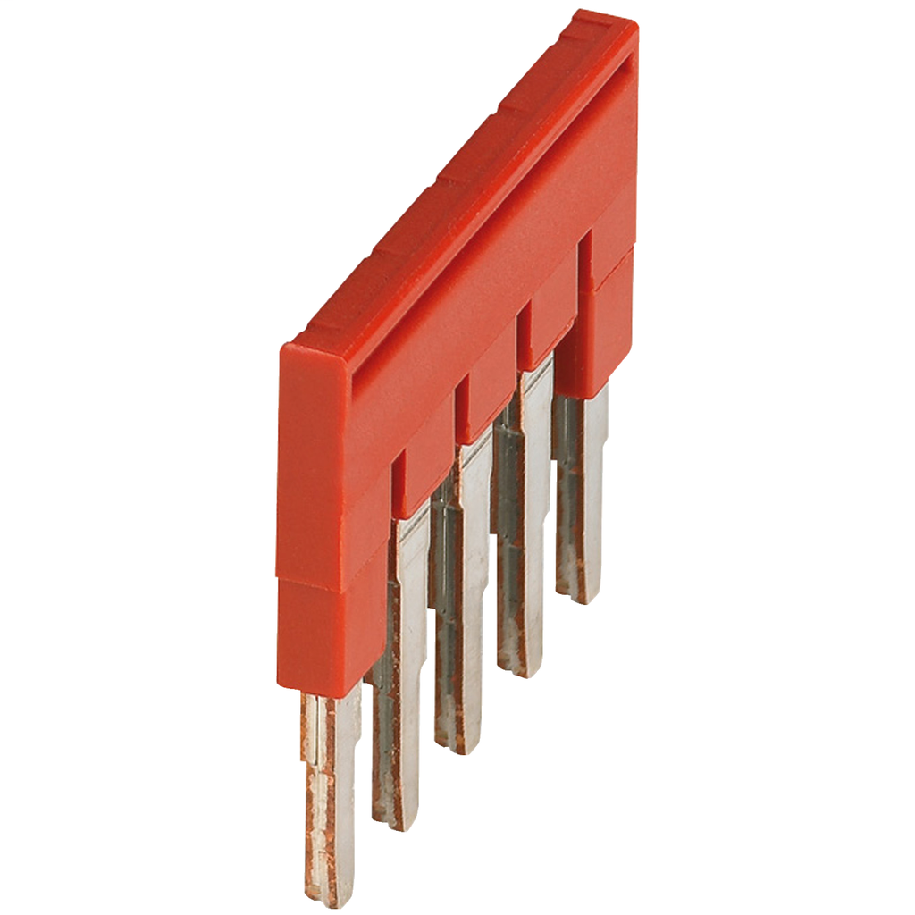 Mayer-PLUG-IN BRIDGE, 5POINTS FOR 4MM² TERMINAL BLOCKS, RED-1