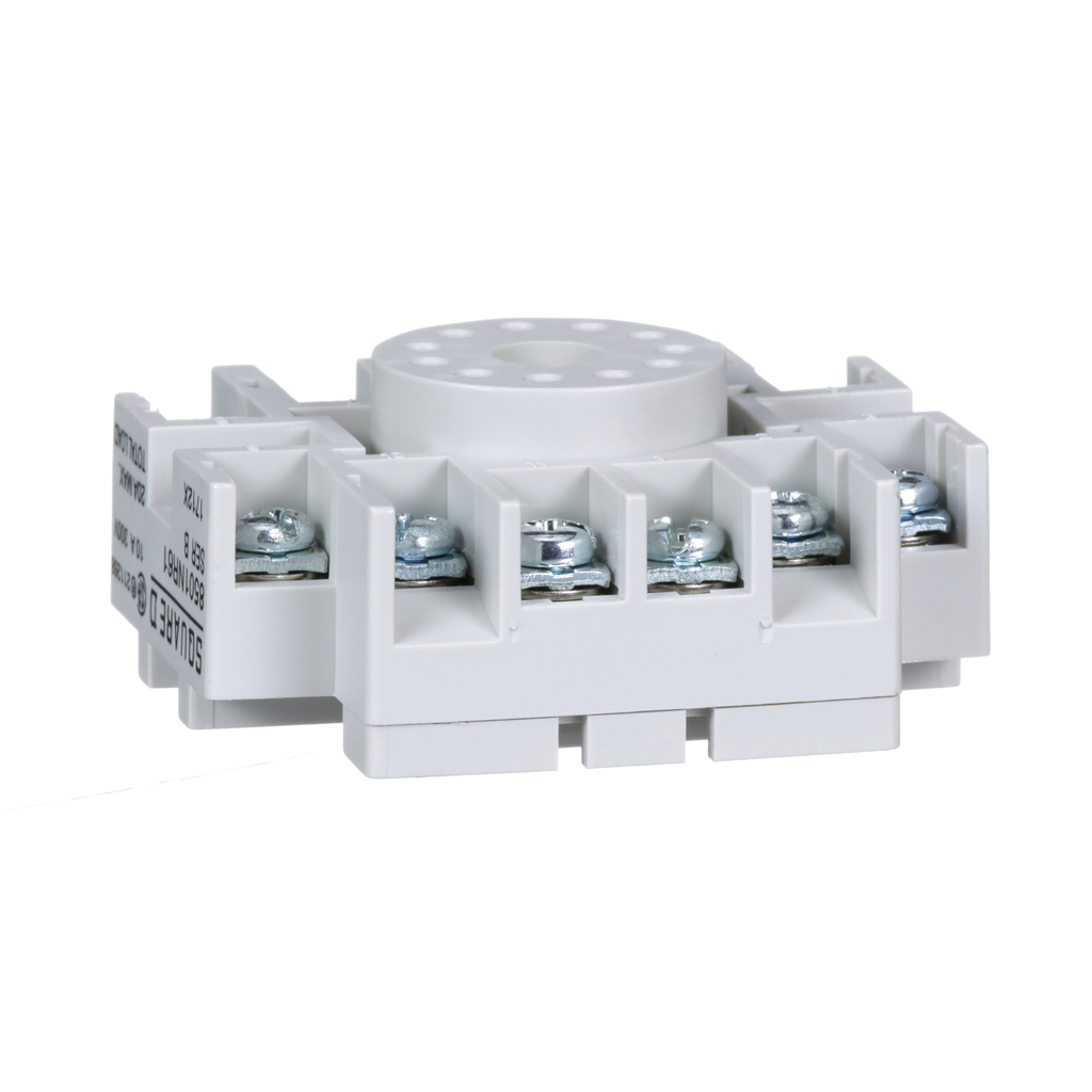 Mayer-Plug in relay, Type N, relay socket, 11 tubular pin, single tier, for 8510KP relays and 9050JCK timers-1