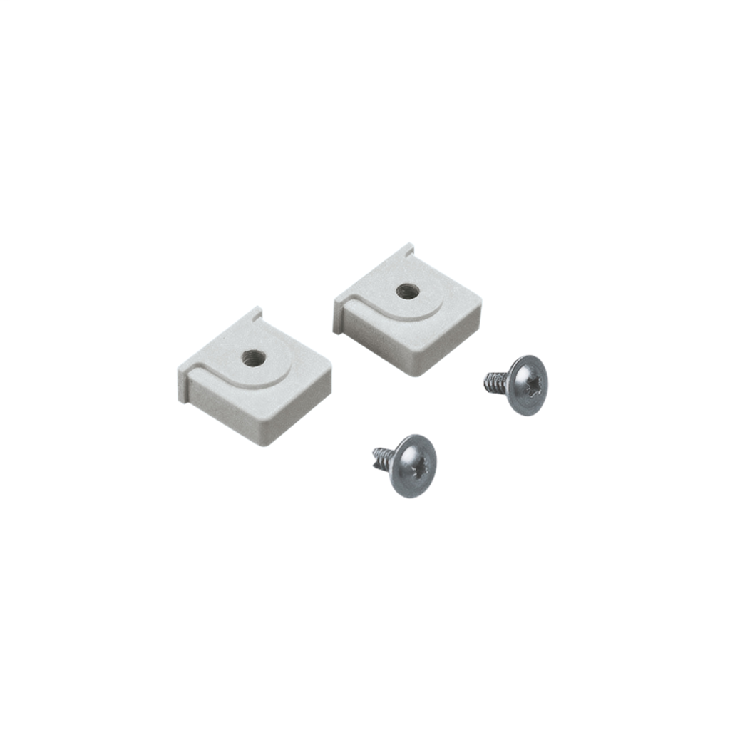 Mayer-Plastic nut and M6 screw placed in the notches of PLM for DIN rail-1