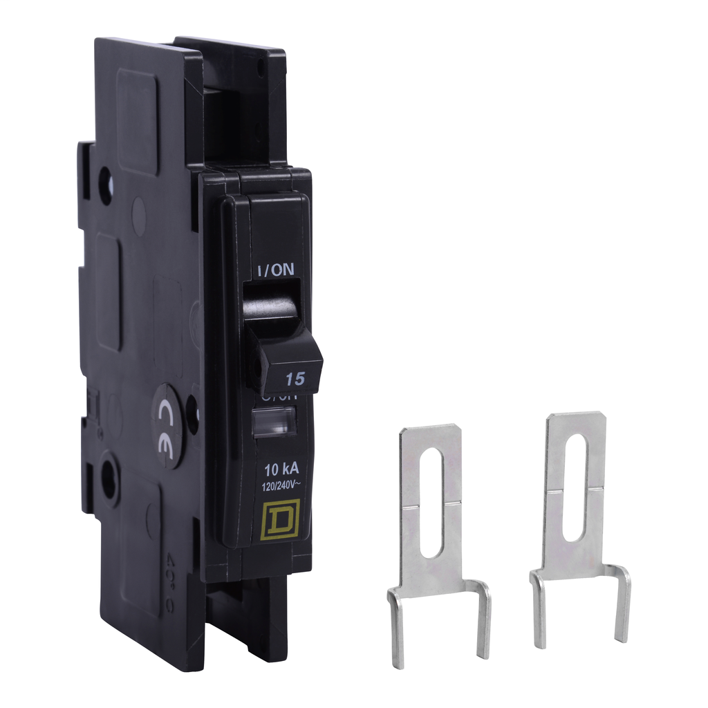 Mayer-Mini circuit breaker, QOU, 45A, 1 pole, 120/240 VAC, 10kA, field reversible lugs-1