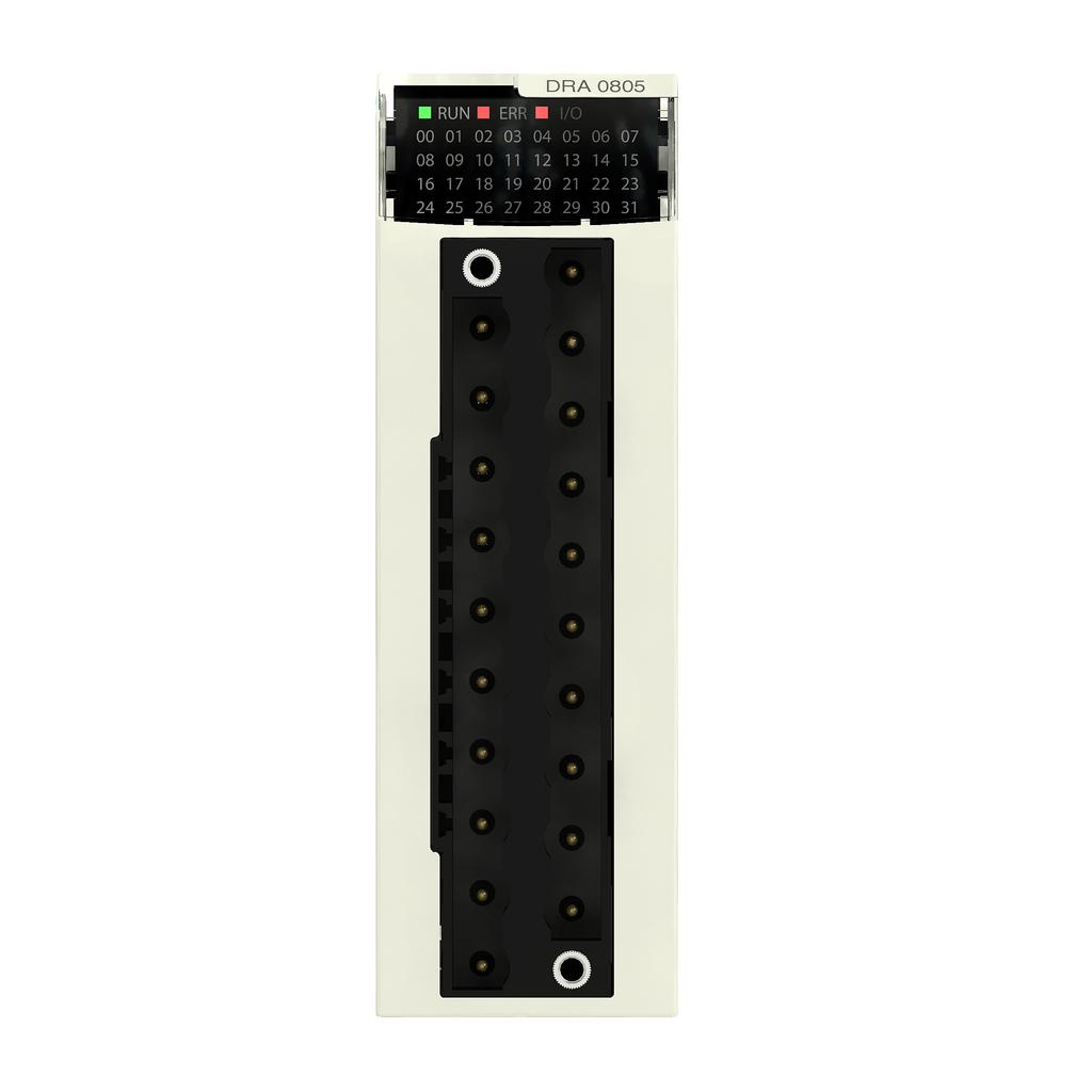 Discrete output module X80 - 8 outputs - relay - 12..24V DC or 24..240 V AC