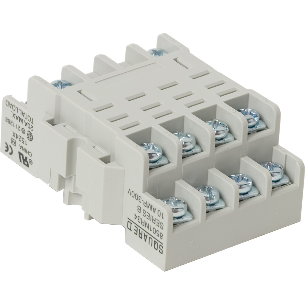 Mayer-Plug in relay, Type N, relay socket, 14 blade, for 8510R relays, bulk packaged-1