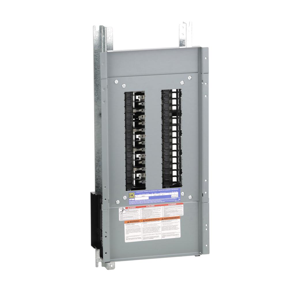 Mayer-Panelboard interior, NQ, main lugs, 225A, Al bus, 30 pole spaces, 3 phase, 4 wire, 240 VAC, 48 VDC-1