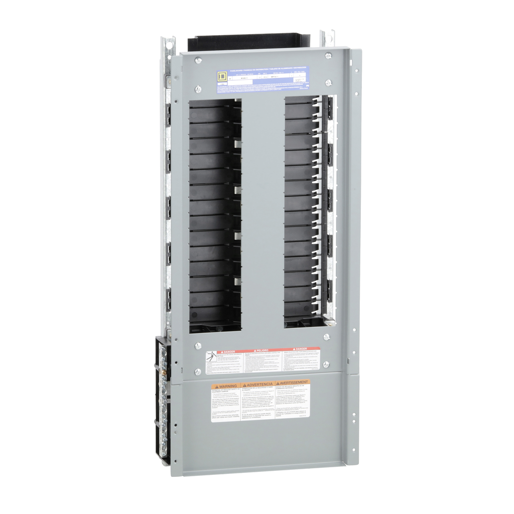 Mayer-Panelboard interior, NF, main lugs, 125A, Cu bus, 30 pole spaces, 3 phase, 4 wire, 600Y/347 VAC max-1