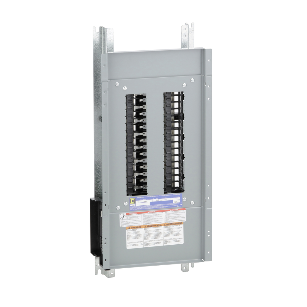 Mayer-Panelboard interior, NQ, main lugs, 225A, Cu bus, 30 pole spaces, 1 phase, 3 wire, 240 VAC, 48 VDC-1