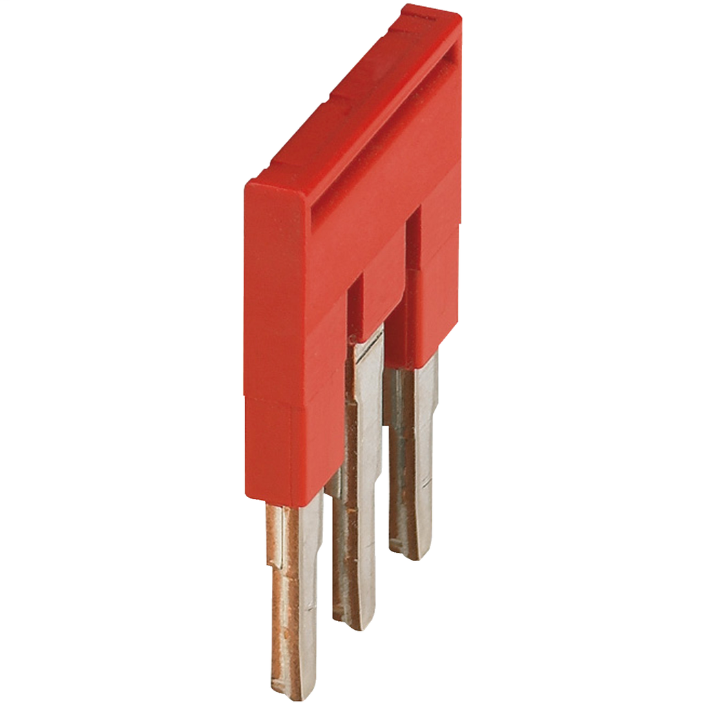 Mayer-PLUG-IN BRIDGE, 3POINTS FOR 4MM² TERMINAL BLOCKS, RED-1