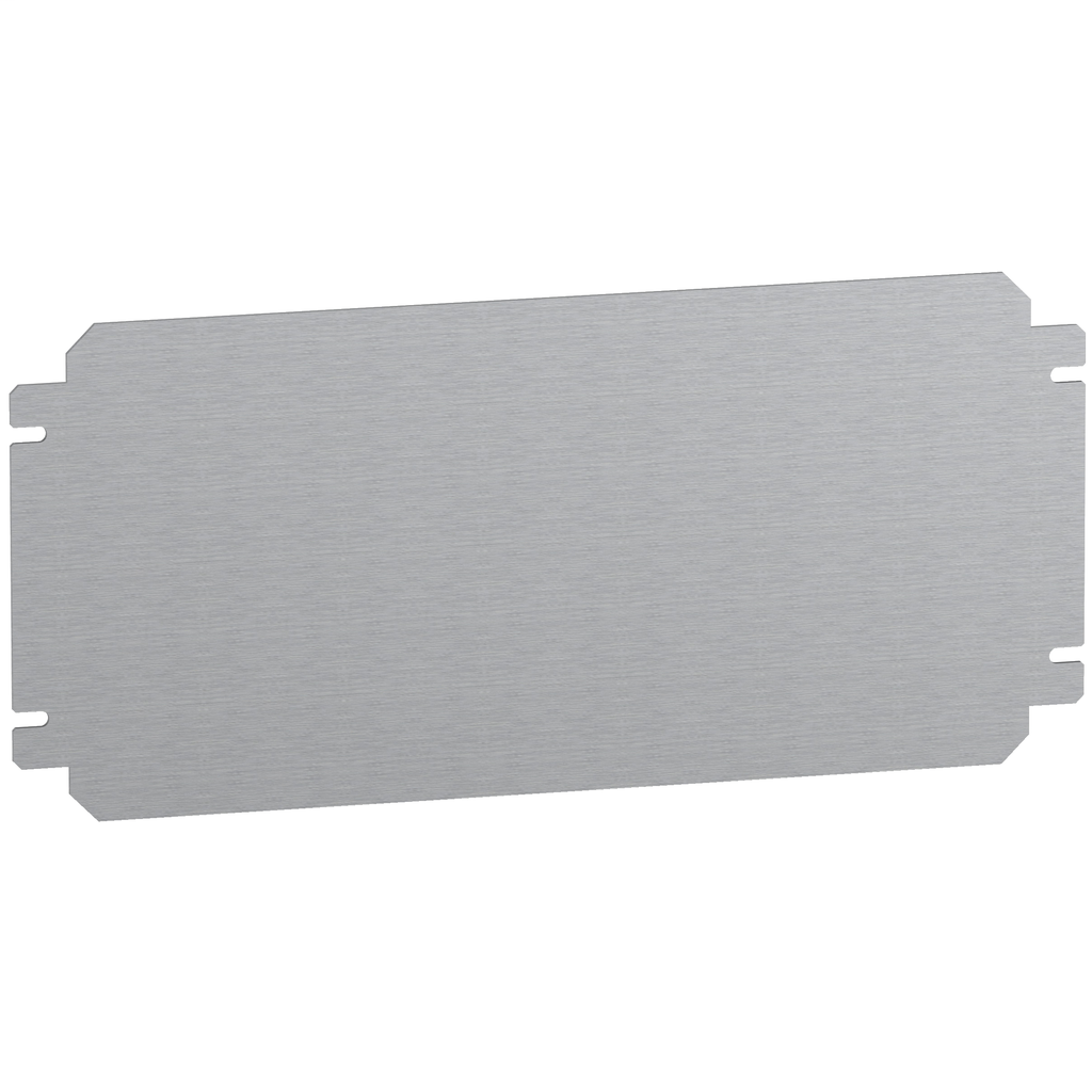 Mayer-Plain mounting plate H400xW600mm made of galvanised sheet steel-1