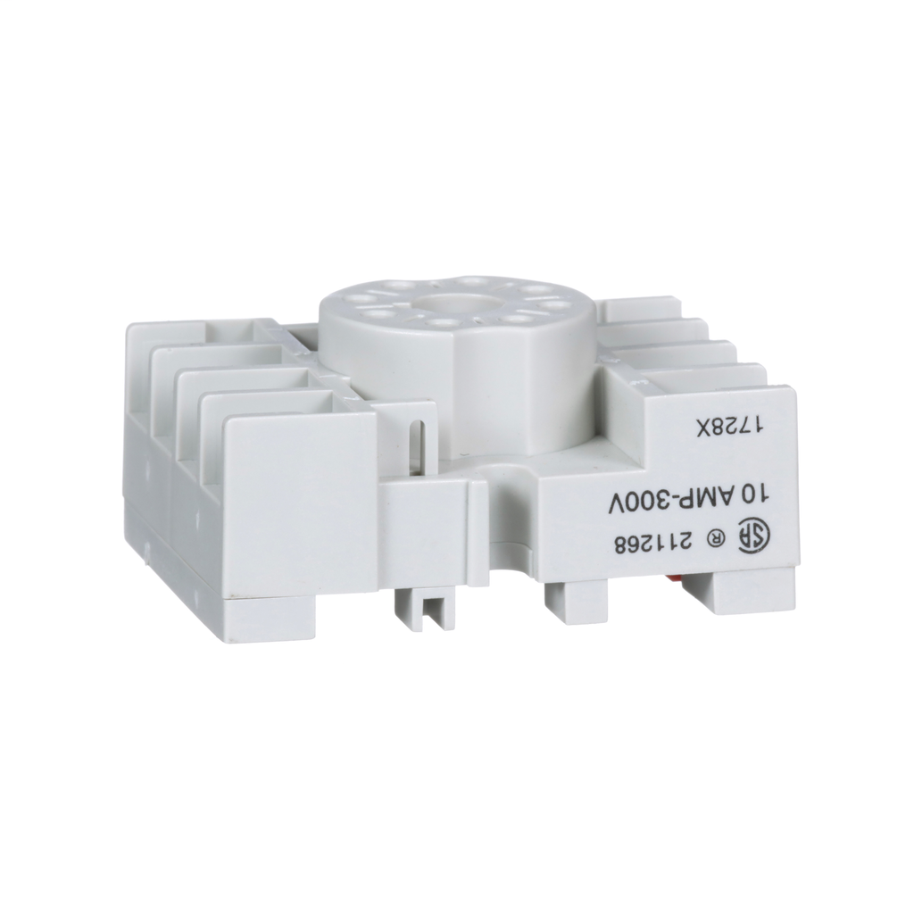 Mayer-Plug in relay, Type N, relay socket, 8 tubular pin, single tier, for 8501KP relays and 9050JCK timers-1