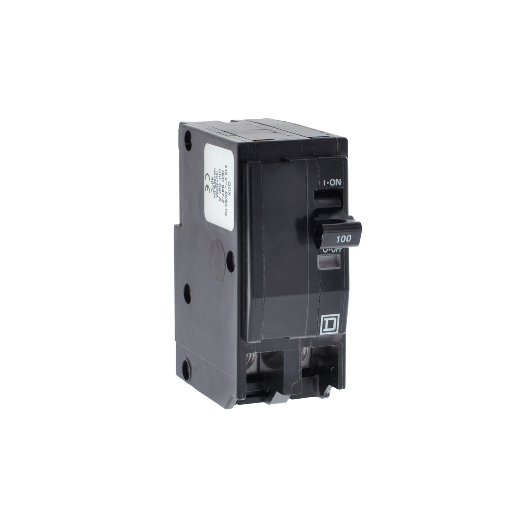 Mayer-Mini circuit breaker, QO, 20A, 2 pole, 240/415 VAC, 3 kA, plug in mount-1