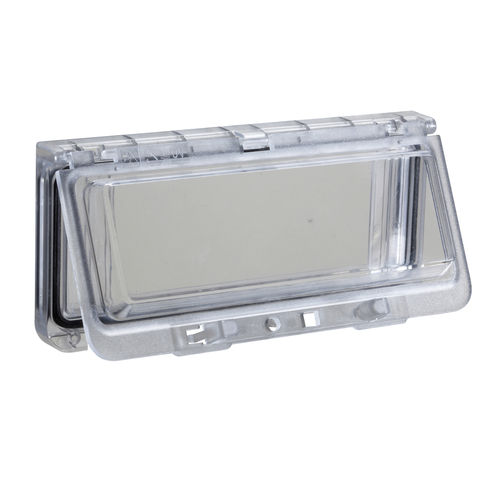 Mayer-Plastic window with hinged transparent cover. IP 65, L78xW130xD25mm.-1