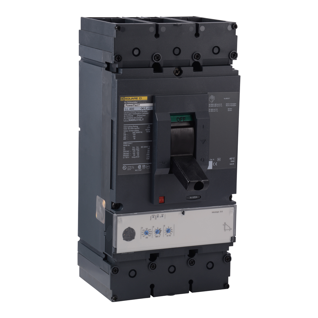 Square D LLL36400U31X 600 Volt 400 Amp Molded Case Circuit Breaker